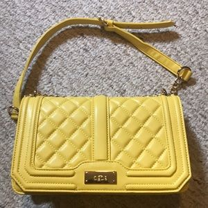 "Yellow BCBG quilted ""boy bag"" 💛"